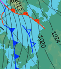 small image of weather pressure chart (Isobars)